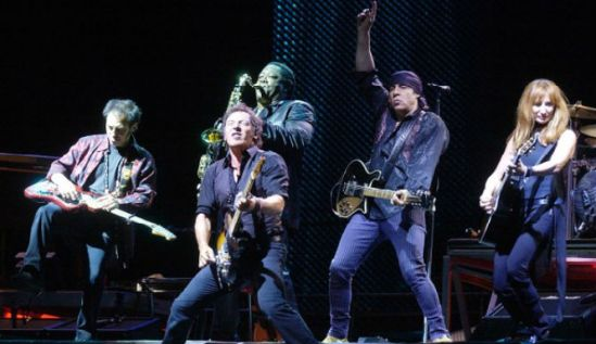 Bruce Springsteen and E Street band performing at the 12-12-12 Sandy relief concert @ MSG