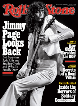 Jimmy Page on the cover of Rolling Stone magazine.
