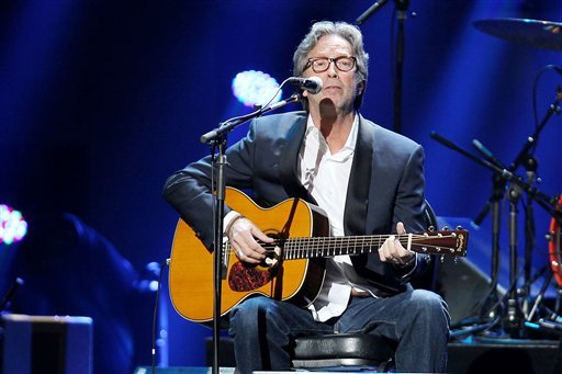 Eric Clapton performing at the 12-12-12 Sandy relief concert @ MSG