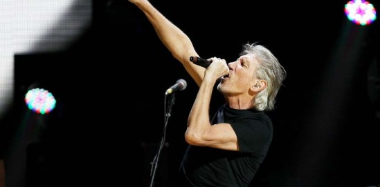 Roger Waters of Pink Floyd performing at the 12-12-12 Sandy relief concer @ MSG
