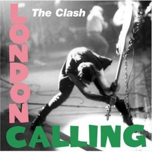The Clash - London Calling. Cover art  of an infuriated Paul Simonon, smashing his bass. By Pennie Smith