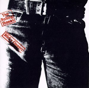 The Rolling Stones - Sticky Fingers.  Artwork was conceived by Andy Warhol, photography was by Billy Name and design by Craig Braun.