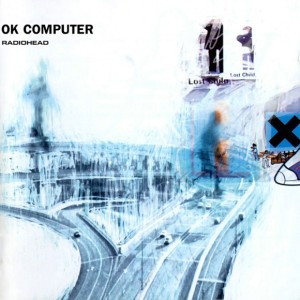 "Radiohead - OK Computer / Cover art  is a collage of images and text created by Stanley Donwood and Yorke, credited under the pseudonym ""The White Chocolate Farm.""  The jazz fusion of Miles Davis and and political writings of Noam Chomsky influenced OK Computer."