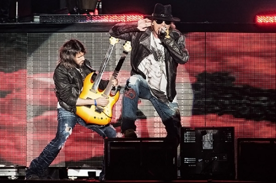Guns N' Roses perform at Governors Ball Music Festival on June 8th, 2013 on Randall's Island in New York City.
