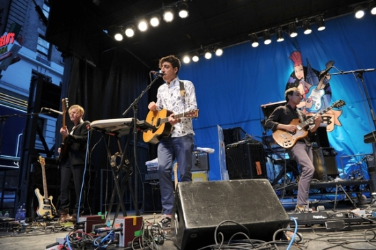 Grizzly Bear perform during CBGB Music & Film Festival at Times Square in New York City. Bryan Bedder/Getty Images for CBGB
