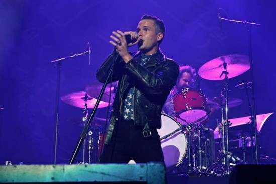Frontman Brandon Flowers of The Killers
