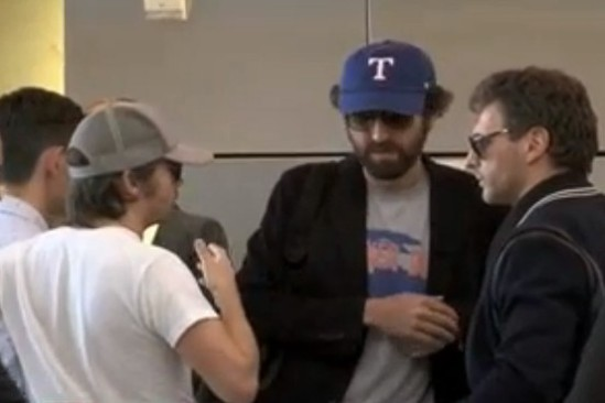 Daft Punk without helmets @ LAX