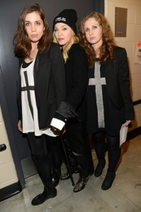 Members of the Pussy Riot collective and Madonna