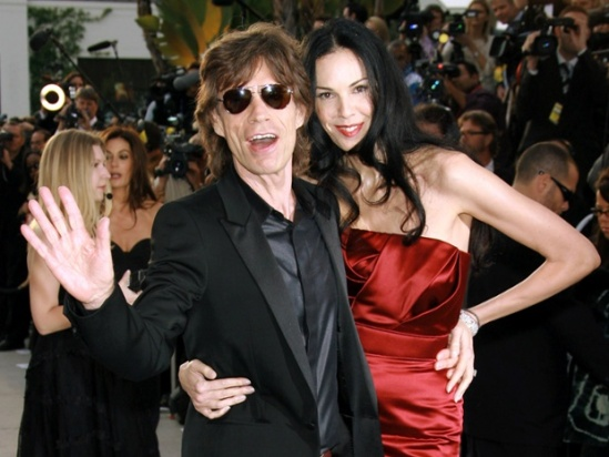 Mick Jagger and L'Wren Scott at a Vanity Fair party in 2006. Photograph: Startraks Photo/Rex