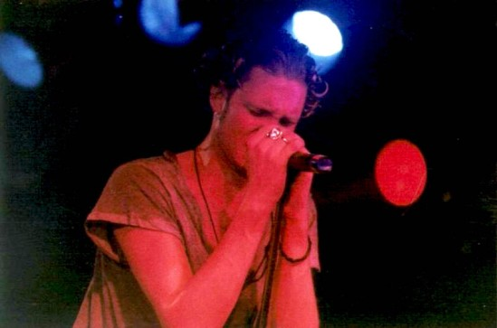 Layne Staley playing with Alice in Chains at The Channel in Boston, MA. 27 November 1992 - Photo: Rex Aran Emrick