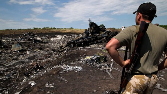 Malaysia Airlines Boeing 777 crash site