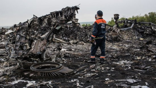 Malaysia Airlines Boing's crash site
