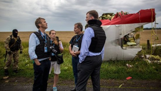Works at Malaysian Boeing 777 Crash Site