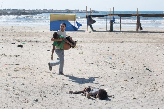 Children playing soccer at the beach killed by Israel's air strikes