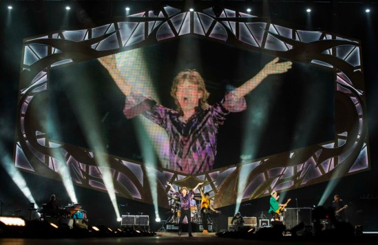 The Rolling Stones performs on stage at Hayarkon Park in the Mediterranean coastal city of Tel Aviv, on June 4, 2014. The Rolling Stones staged a live concert in Tel