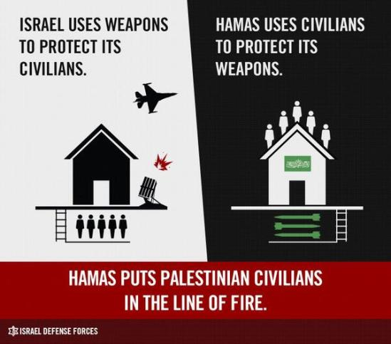 @IDFSpokesperson Hamas puts Palestinian civilians in the line of fire. 11:42 AM - 12 Jul 2014