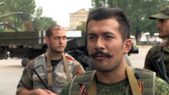 Commander of the French team in Ukraine Victor Lenfa. Screenshot from RT video