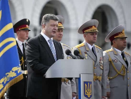 """Ukraine's President """"elected"""" Petro Poroshenko"""