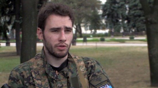 French fighter Guillaume. Screenshot from RT video