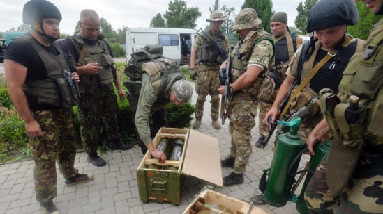 Ukraine Neo-Nazi National Guard supported by the Obama Administration
