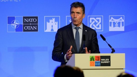 NATO Secretary General Anders Fogh Rasmussen says he is ready to welcome Russian President Vladimir Putin's peace plan for Ukraine in case it is genuine.