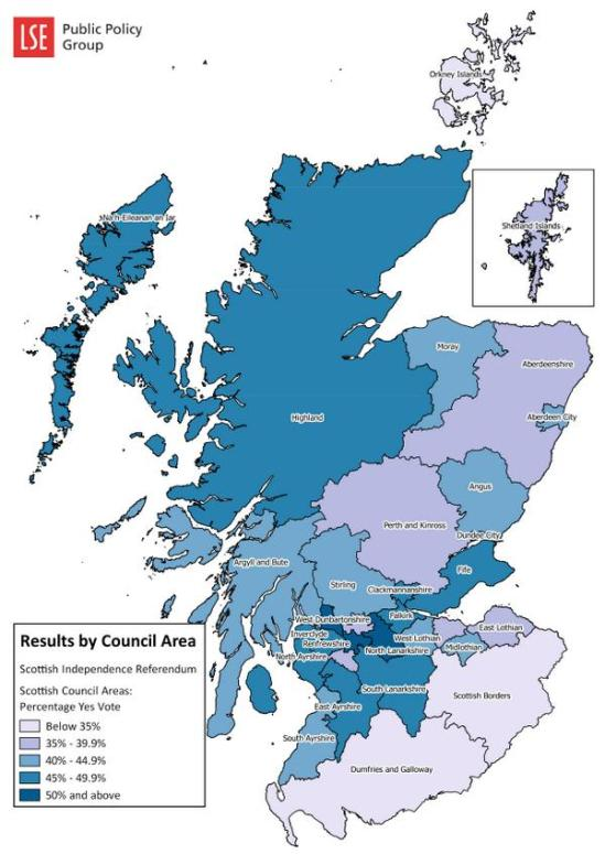 Here's our map showing the #indyref results for each Scottish local authority, put together by @CullinaneCarl 4:46 AM - 19 Sep 2014