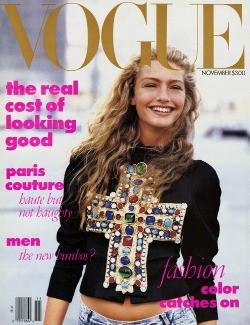 Vogue Michaela Bercu's 1988 Vogue cover.