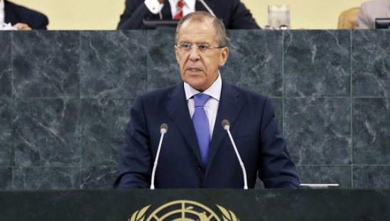 Russia's Foreign Minister Sergei Lavrov at the United Nations
