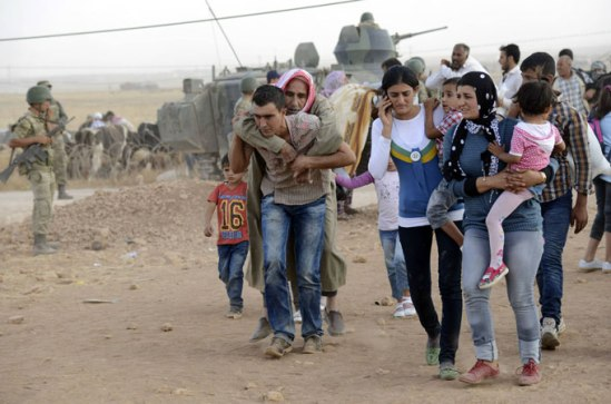 Around 160,000 civilians have fled the town of Ain al-Arab and its surrounding area for Turkey [Reuters]