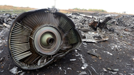 Malaysia Airlines Flight MH17 at the crash site in the village of Hrabove (Grabovo), some 80km east of Donetsk.(AFP Photo / Alexander Khudoteply)