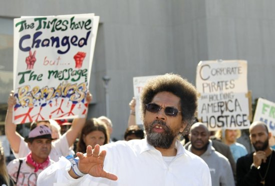 Prof Cornell West @ a protest