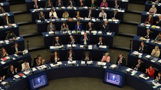 EU parliament.  AFP Photo / Patrick Hertzog