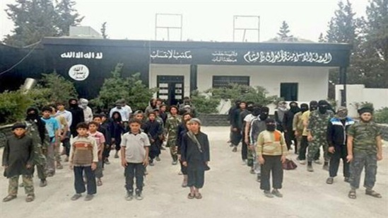 "Home /     News / ​Boys of war: ISIS recruit, kidnap children as young as 10 yo Published time: July 02, 2014 21:07 Edited time: July 04, 2014 12:05 Get short URL Published photo of young boys lined up in front of a ""membership office"" for ISIL, in the Syrian town of Al-Bab. Published photo of young boys lined up in front of a ""membership office"" for ISIL, in the Syrian town of Al-Bab."