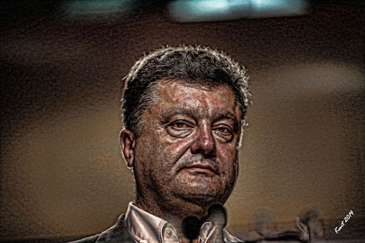 Poroshenko Red Eye Faces of Evil