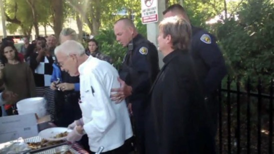 Arnold Abbot being arrested on November 2. Video still. Courtesy Browards Palm Beach New Times