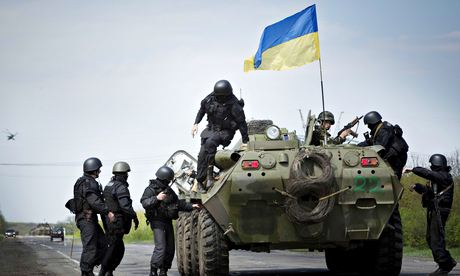 Ukraine troops Slavyansk