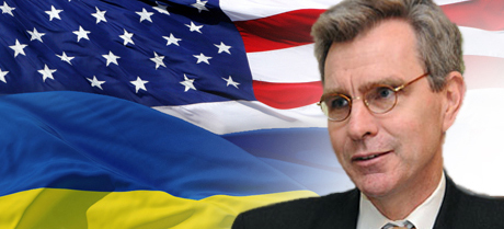 Geoffrey R. Pyatt, is the current United States Ambassador to Ukraine. He's Victoria Nuland's husband.