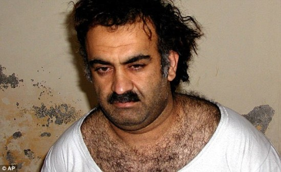 Detainee: Human rights groups believe at least eight terror suspects were held at a Polish prison codenamed 'Blue', including Khalid Sheikh Mohammed (pictured) - the self-proclaimed mastermind of the 9/11 attacks Read more: http://www.dailymail.co.uk/news/article-2867879/CIA-paid-Poland-ease-qualms-secret-prison-Senate-report.html#ixzz3Ld2NvmiF Follow us: @MailOnline on Twitter | DailyMail on Facebook