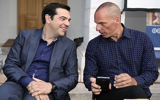 PM Alexis Sipras and Finance Minister Yanis Varoufakis