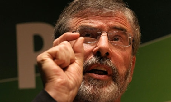 GERRY ADAMS LEADER OF SINN FEIN